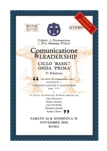 comunicazione & leadership, onda prima, 2° ed