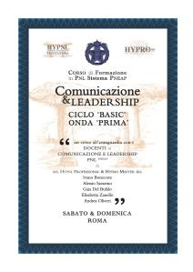 HYPRO Corsi Comunicazione & Leadership - Onda 1